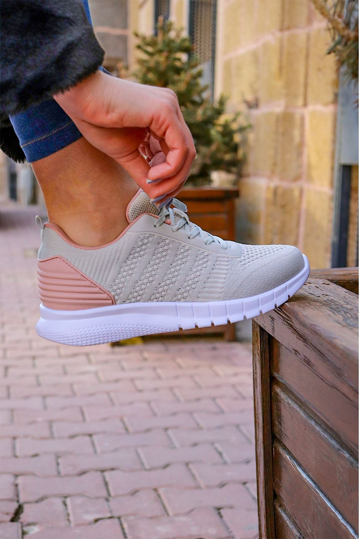 M.P - 211-7401ZN Gri Kadın Spor Ayakkabısı