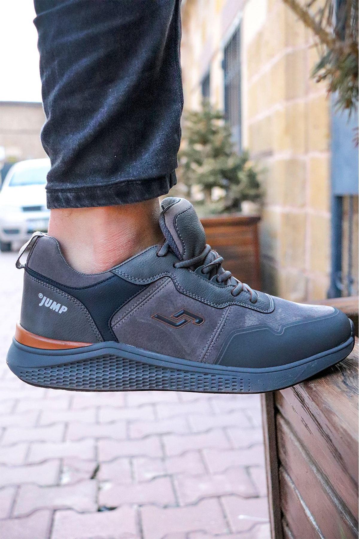 Jump - 25549 Haki Kahve Erkek Spor Ayakkabısı