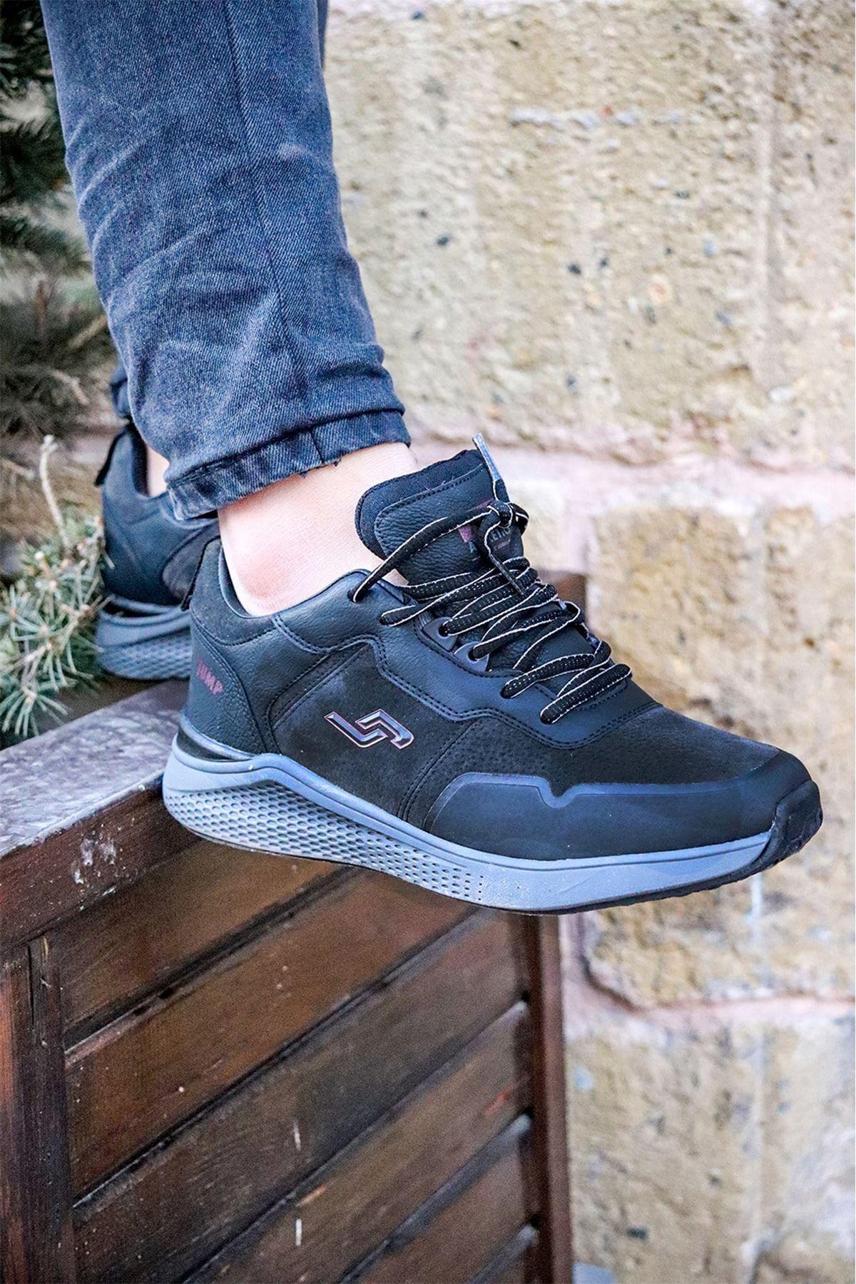 Jump - 25549 Siyah Erkek Spor Ayakkabısı