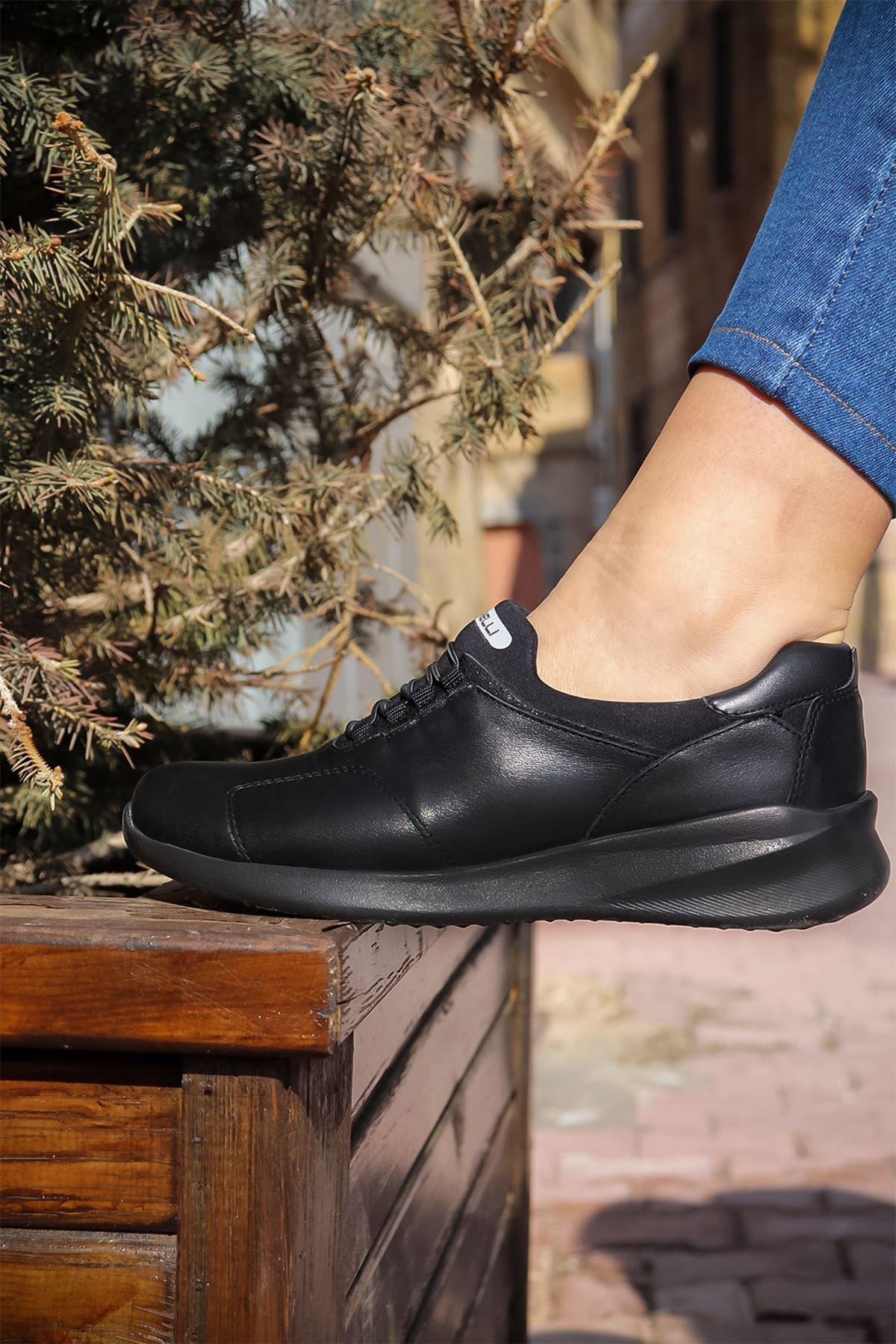 Forelli - 54501 Siyah Ortopedik Kadın Ayakkabısı