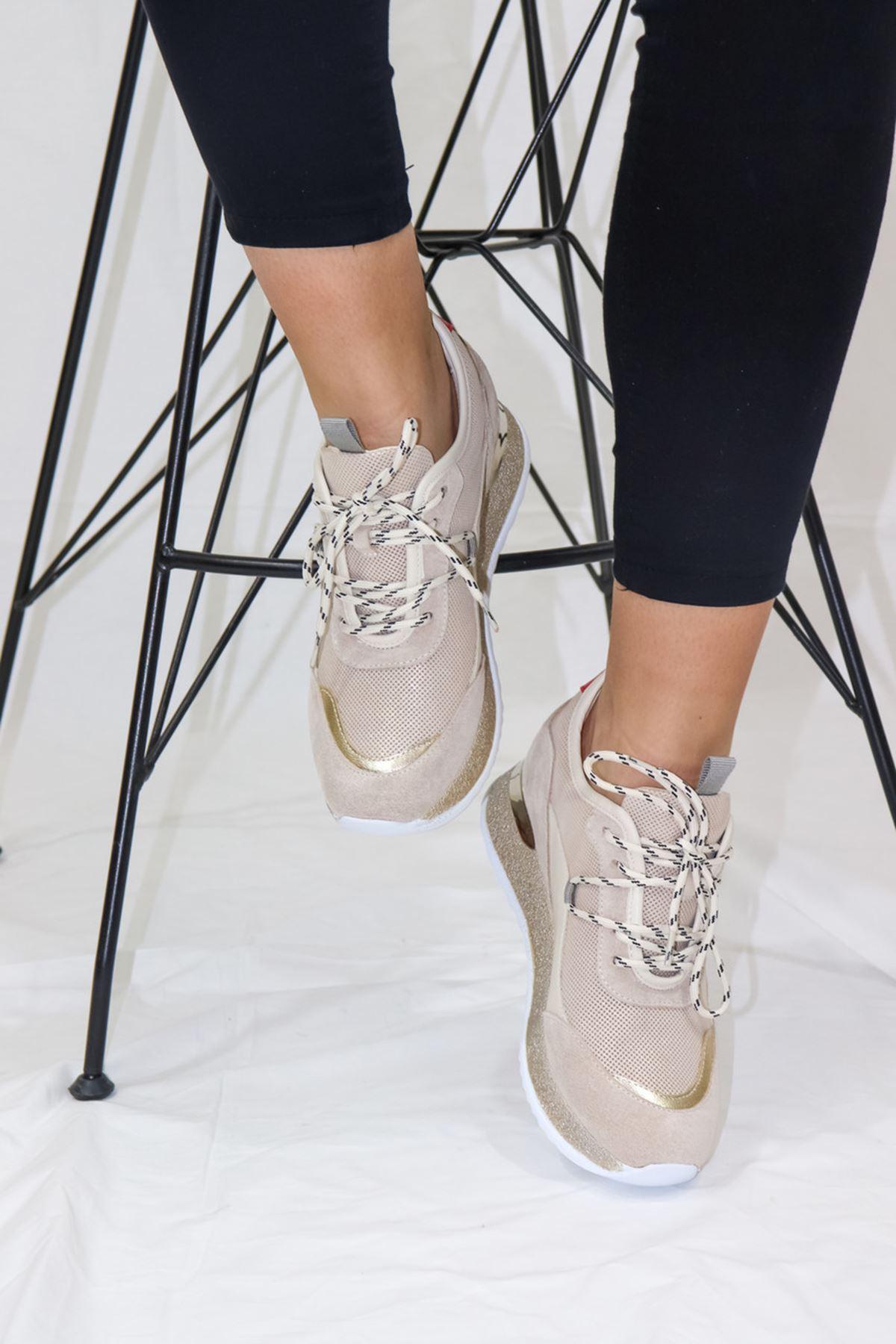 Mammamia - D21YA -570-Z Bej Spor Ayakkabı