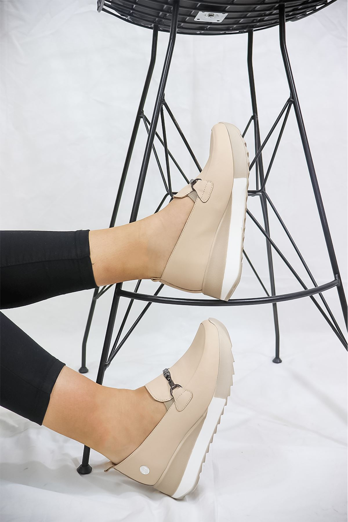 Mammamia - D21YA -3215-B Bej Kadın Ayakkabısı