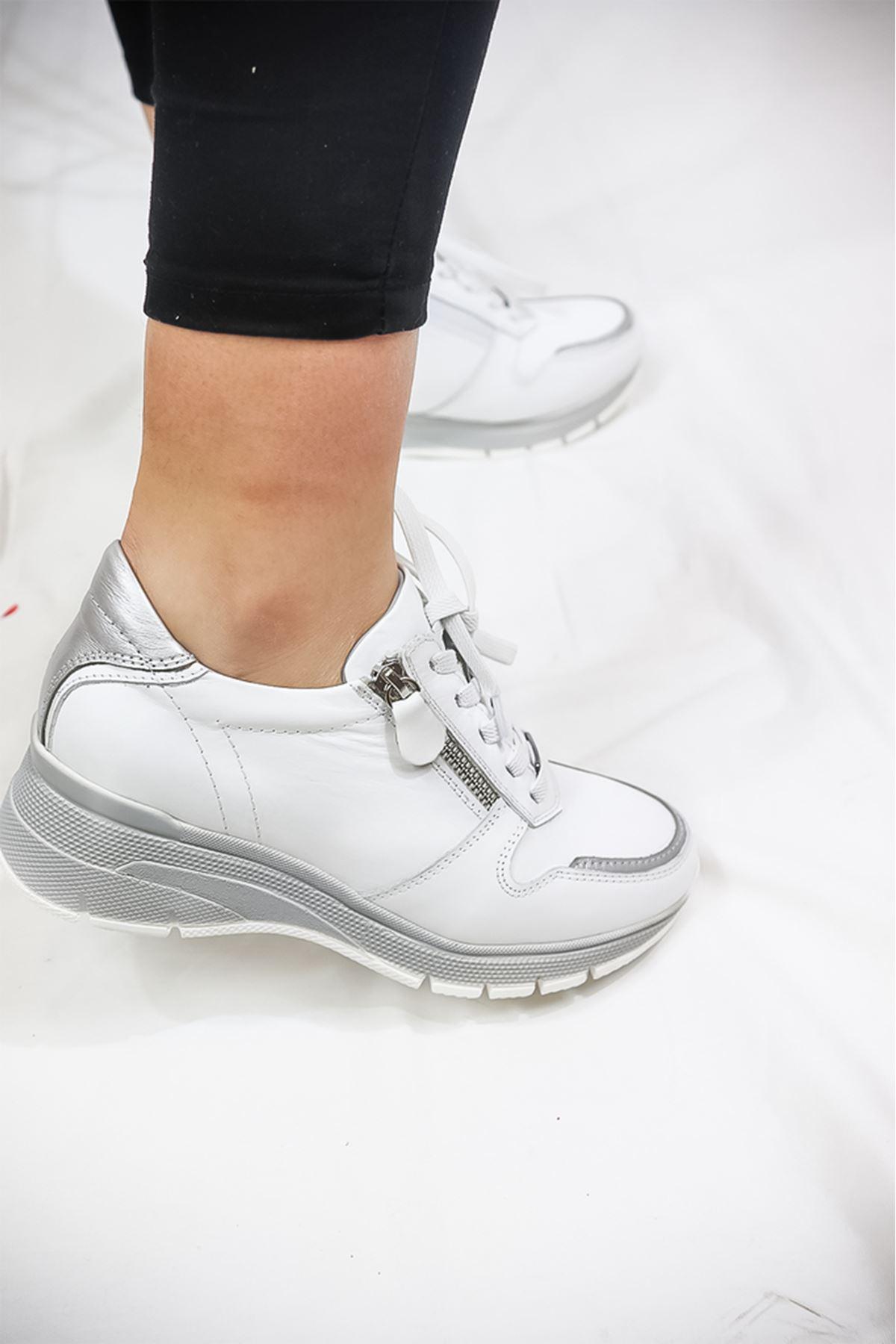 Mammamia - D21YA - 300-Z Beyaz Kadın Ayakkabısı