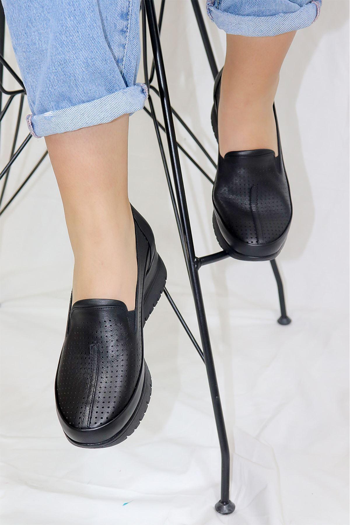 Mammamia - D21YA - 3250-B Siyah Kadın Ayakkabısı