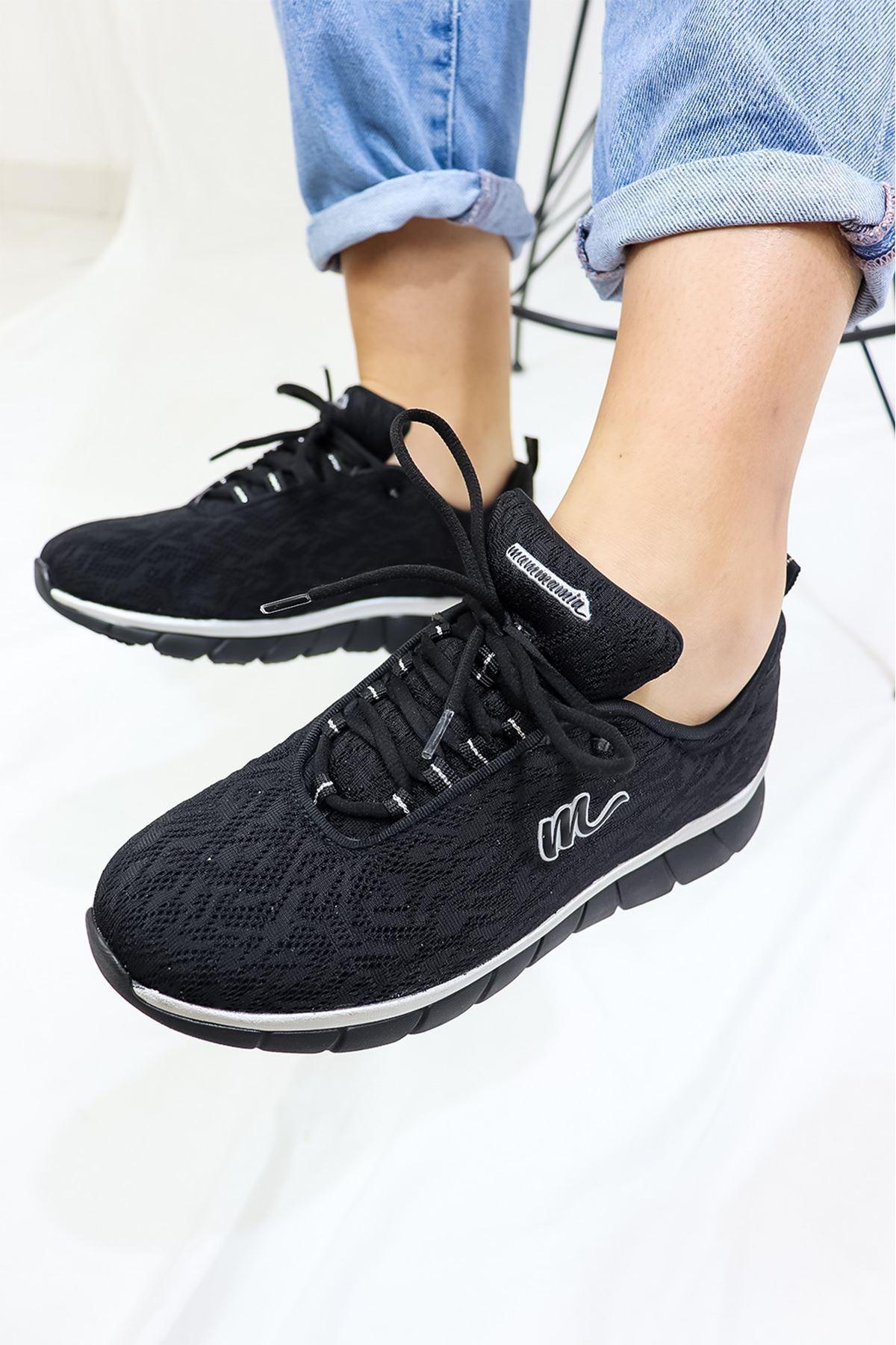 Mammamia - D21YA - 660-B Siyah Spor Kadın Ayakkabısı
