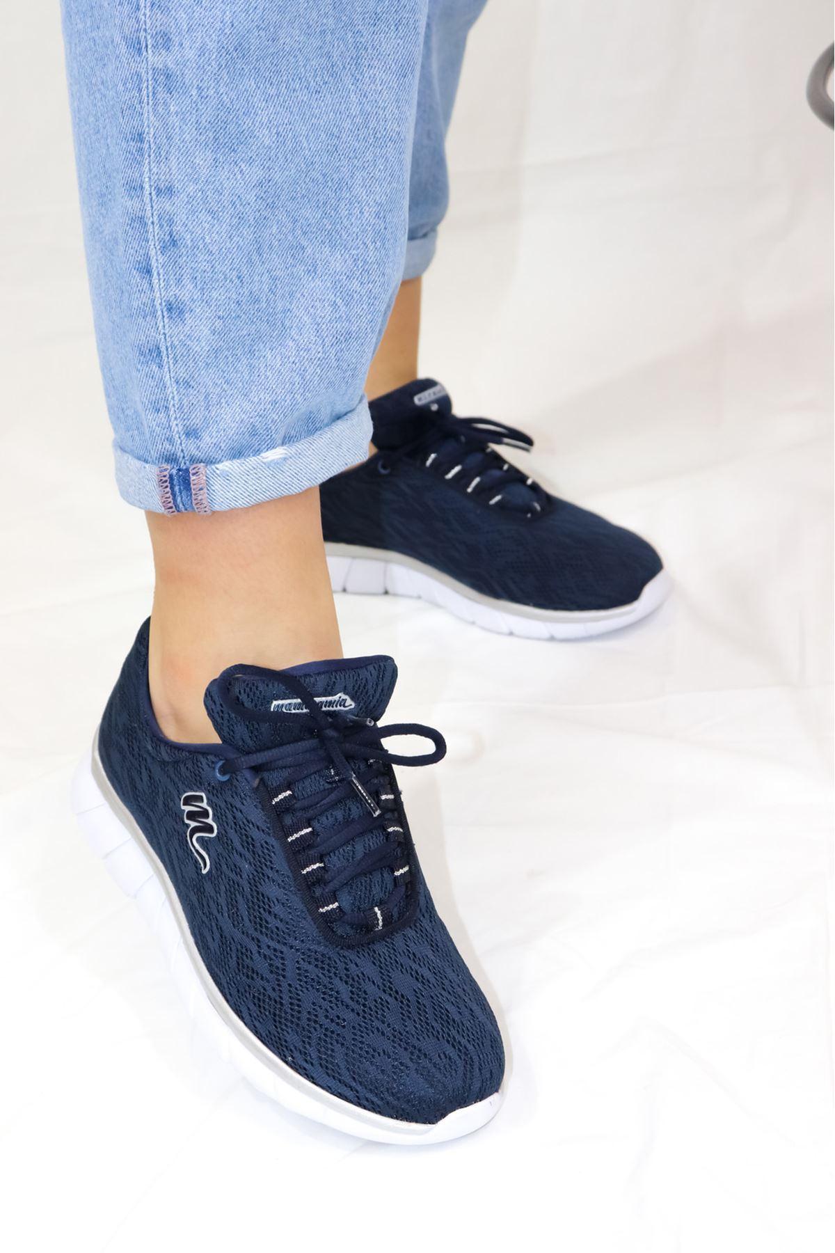 Mammamia - D21YA - 660-B Lacivert Spor Kadın Ayakkabısı