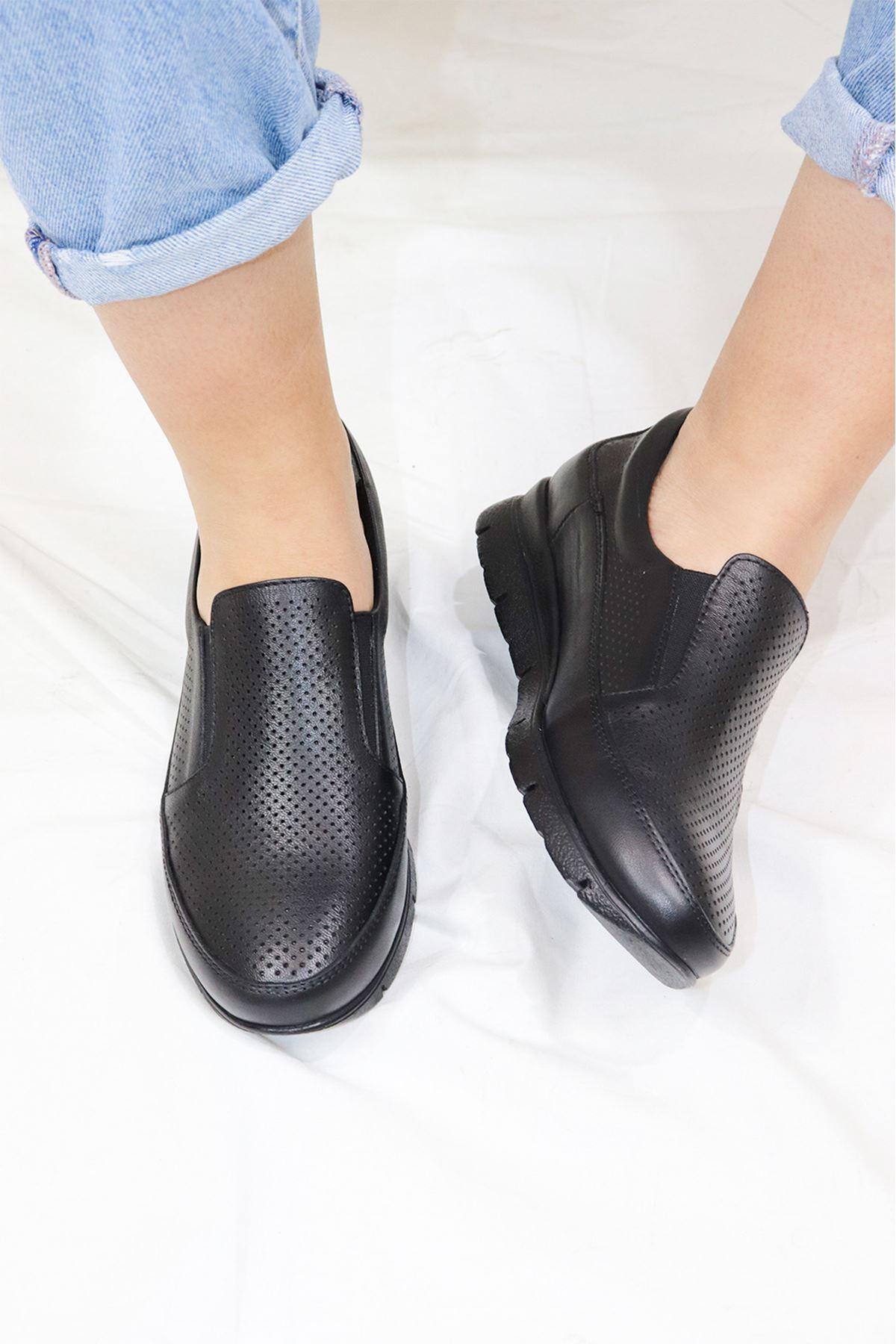 Mammamia - D21YA - 3110-B Siyah Kadın Ayakkabısı