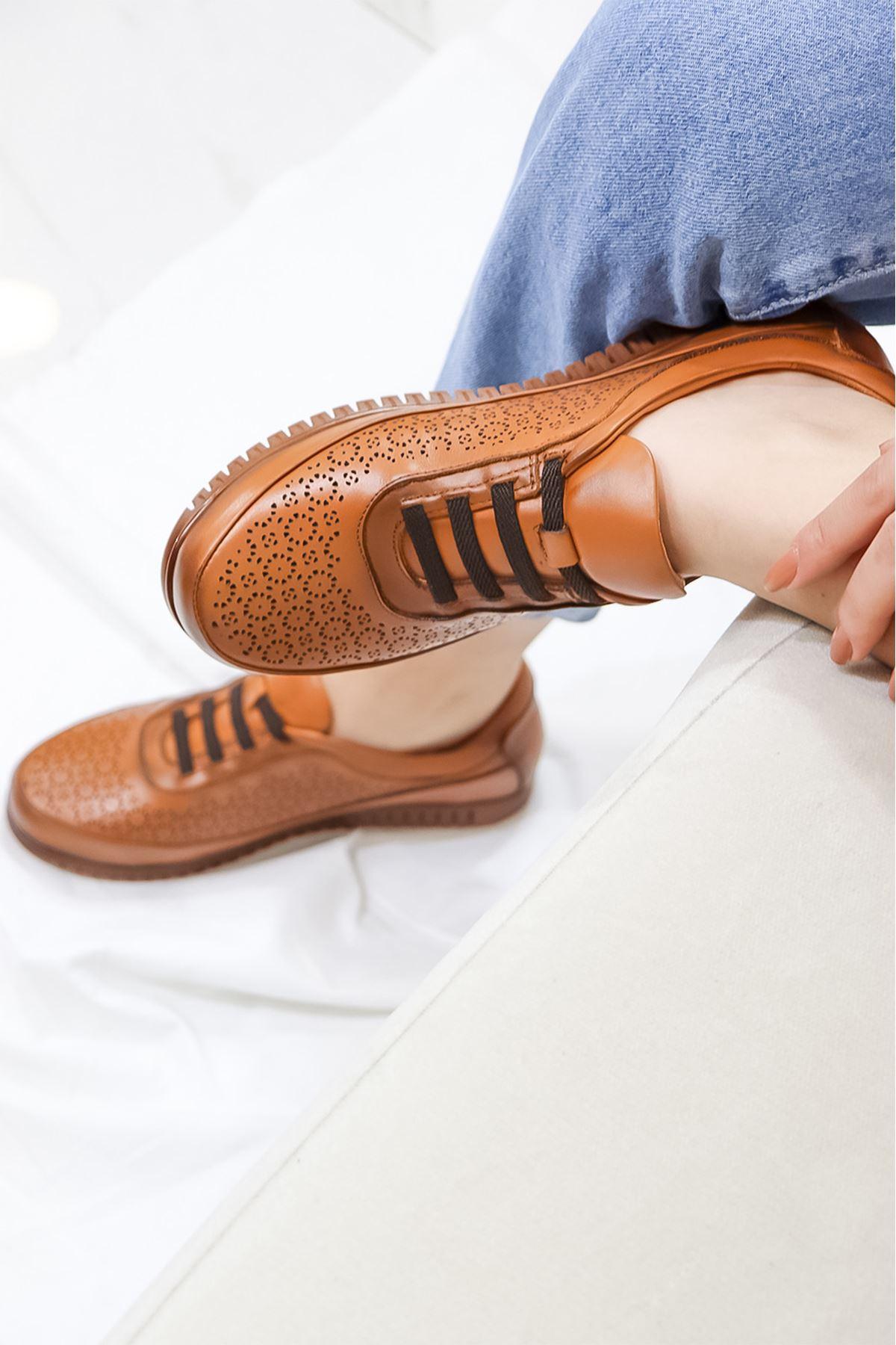 Mammamia - D21YA - 125 Taba Kadın Ayakkabısı
