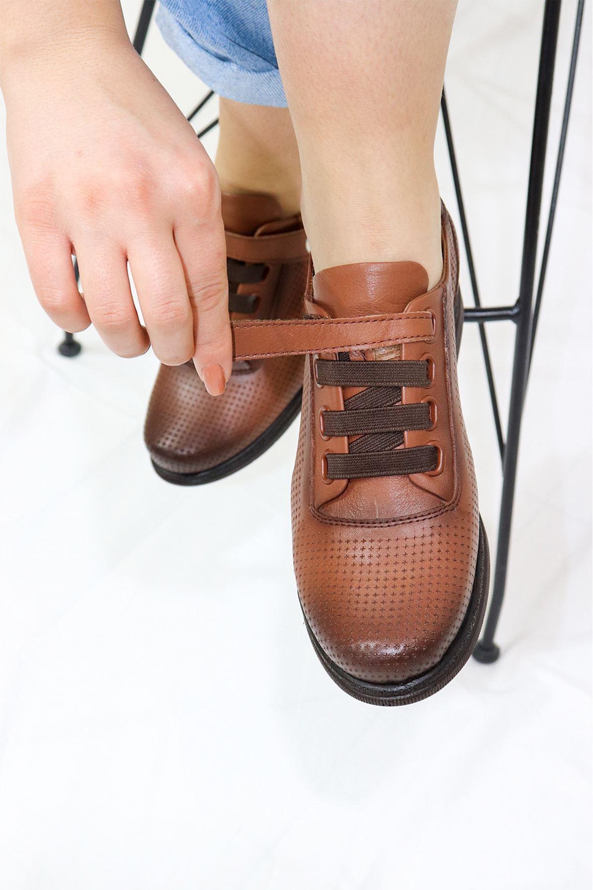 Mammamia - D21YA - 3075-B Taba Kadın Ayakkabısı