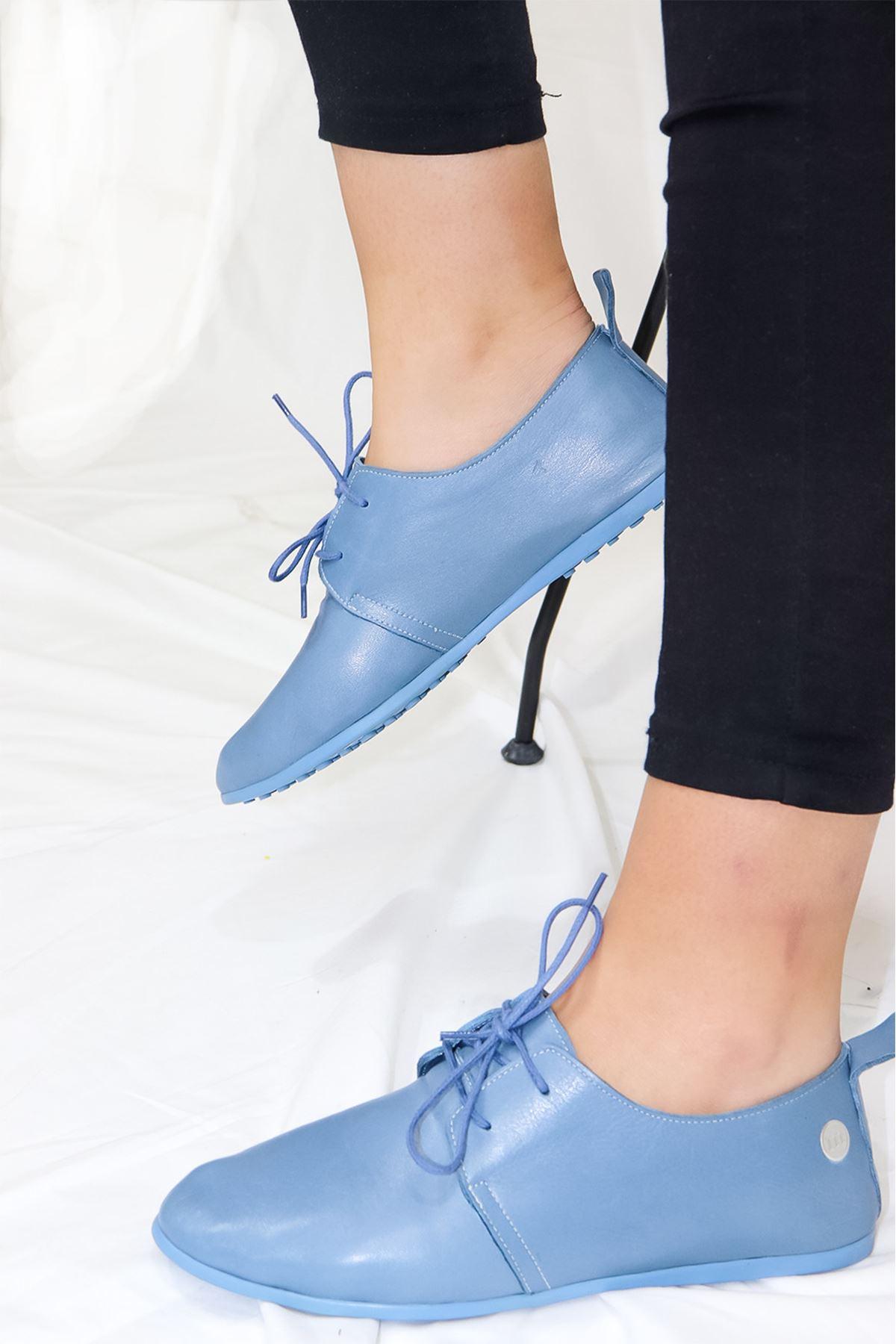 Mammamia - D21YA - 965-B Kot Mavi Casual Kadın Ayakkabısı