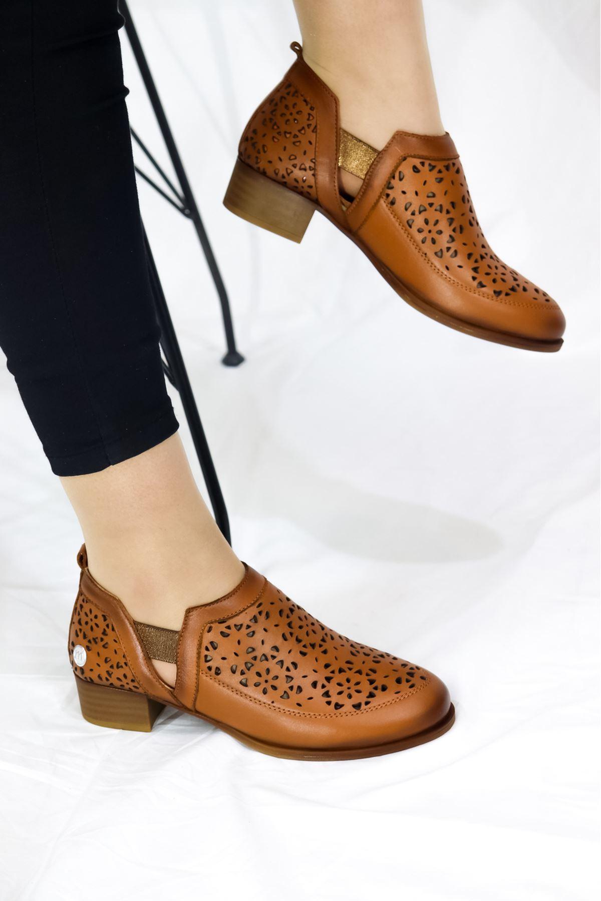 Mammamia - D21YA - 455-B Taba Kadın Ayakkabısı