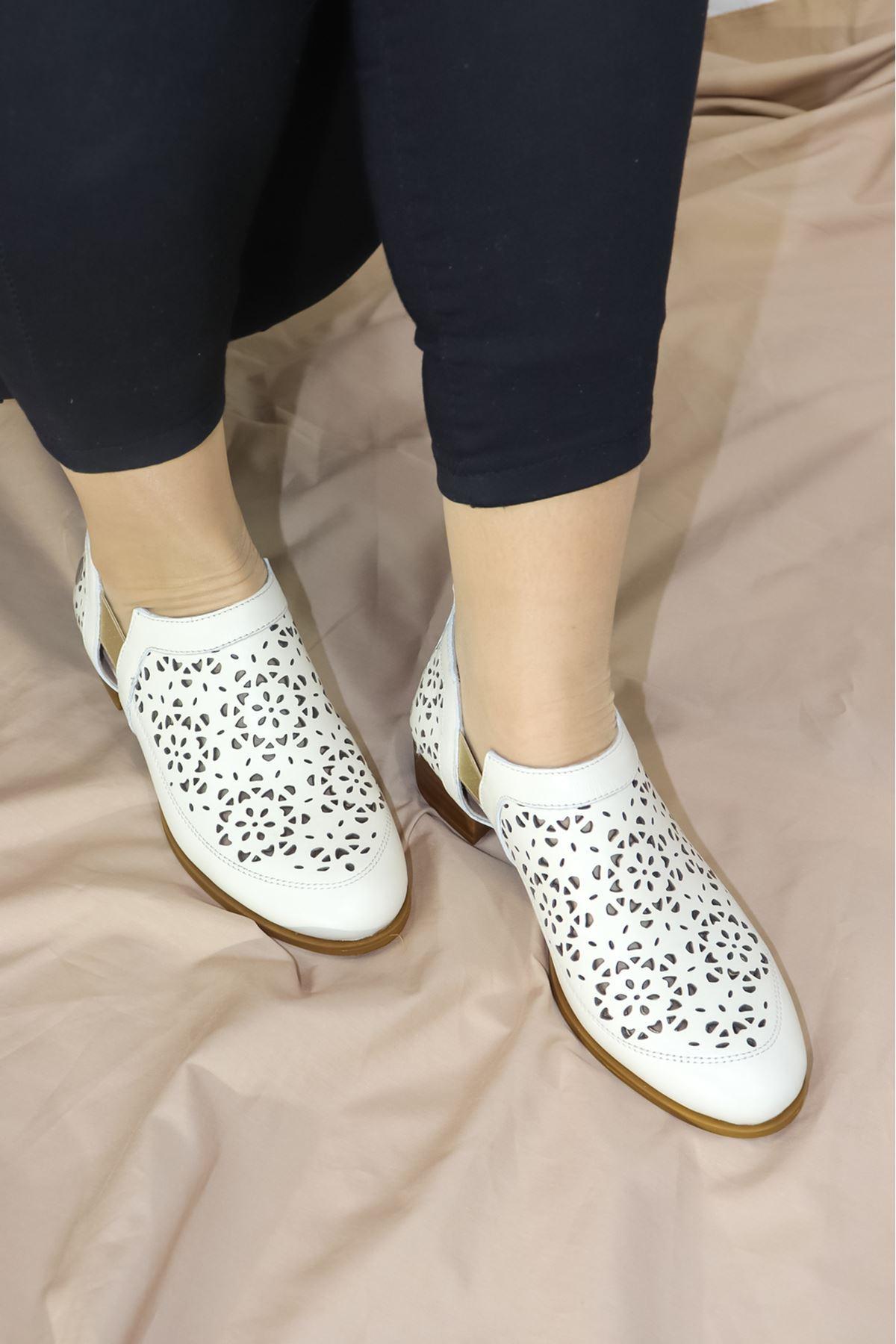 Mammamia - D21YA - 455-B Bej Kadın Ayakkabısı
