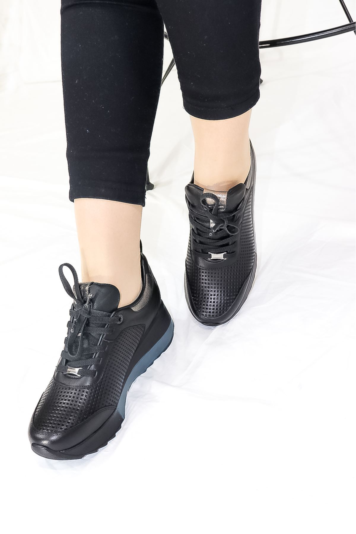 Mammamia - D21YA - 3265-B Siyah spor Kadın Ayakkabısı