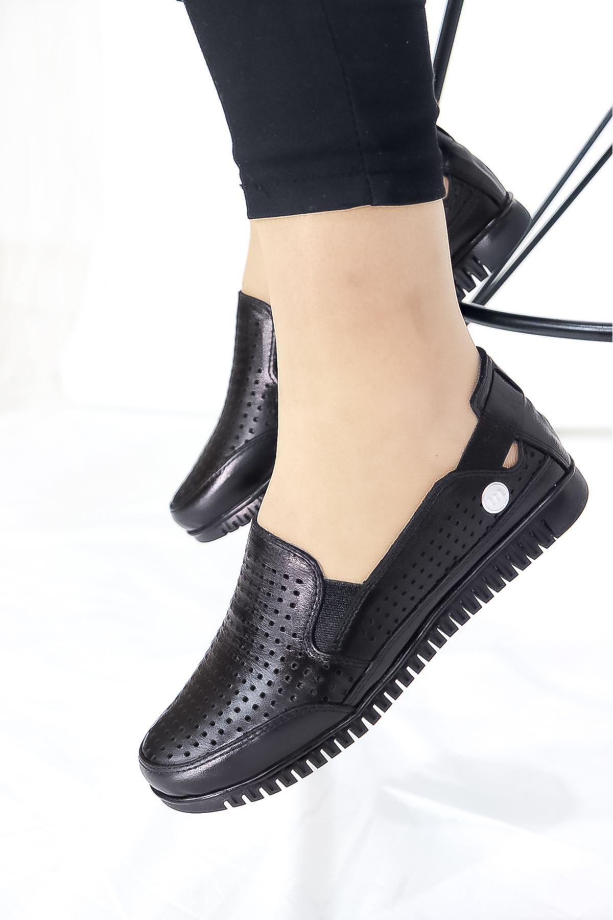 Mammamia - D21YA - 145-B Siyah Ortopedik Kadın Ayakkabısı