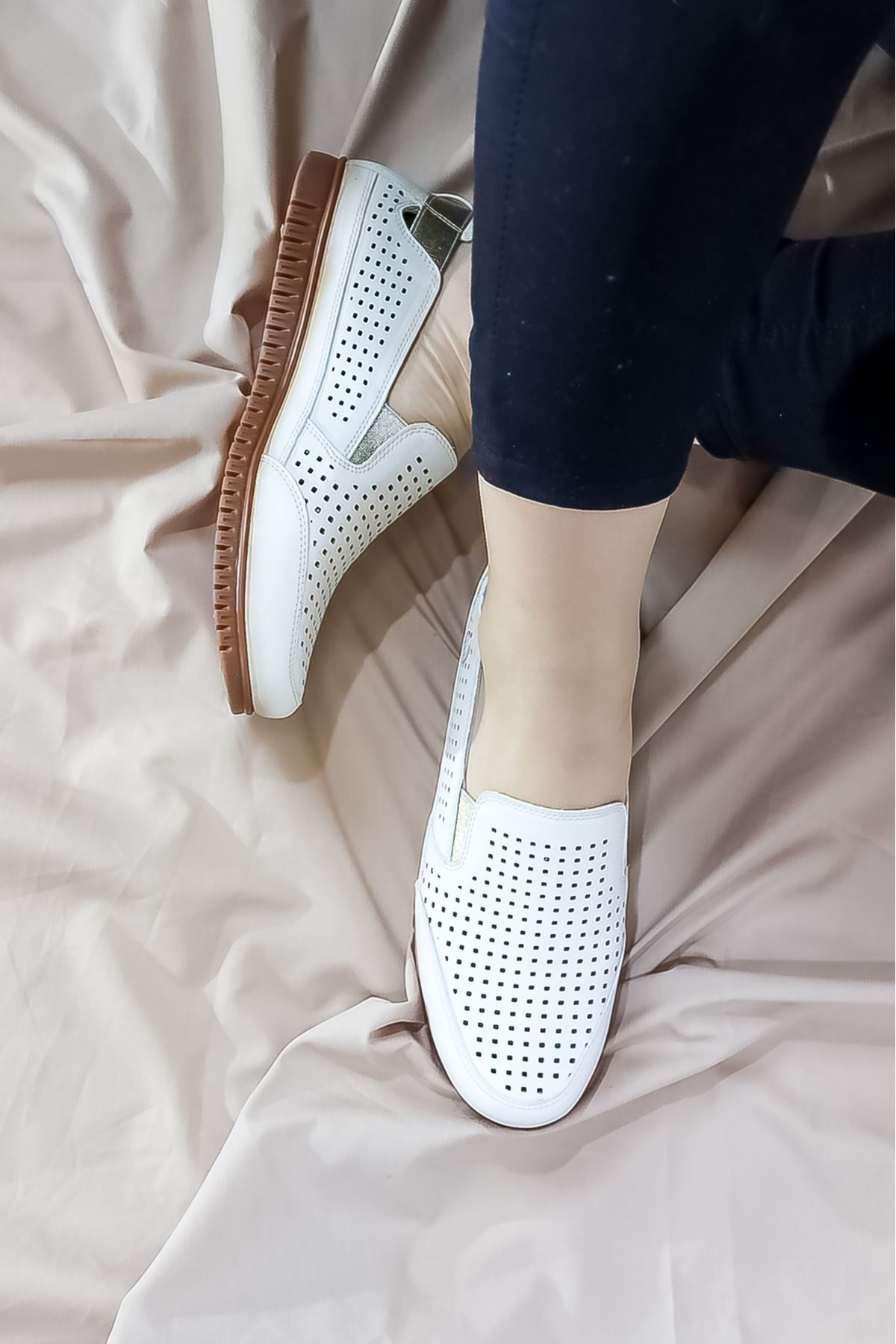 Mammamia - D21YA - 145-B Beyaz Ortopedik Kadın Ayakkabısı