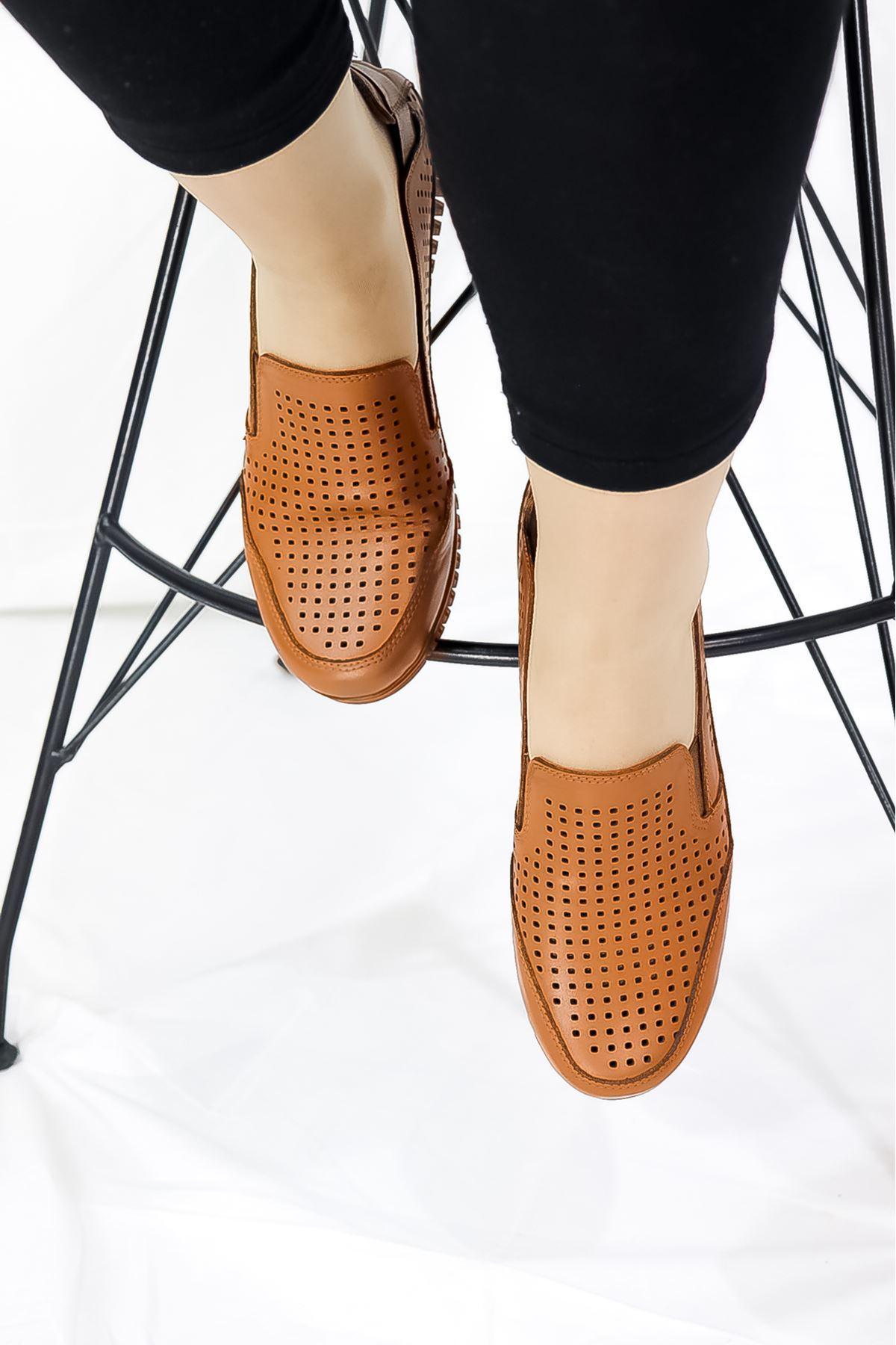 Mammamia - D21YA - 145-B Taba Ortopedik Kadın Ayakkabısı