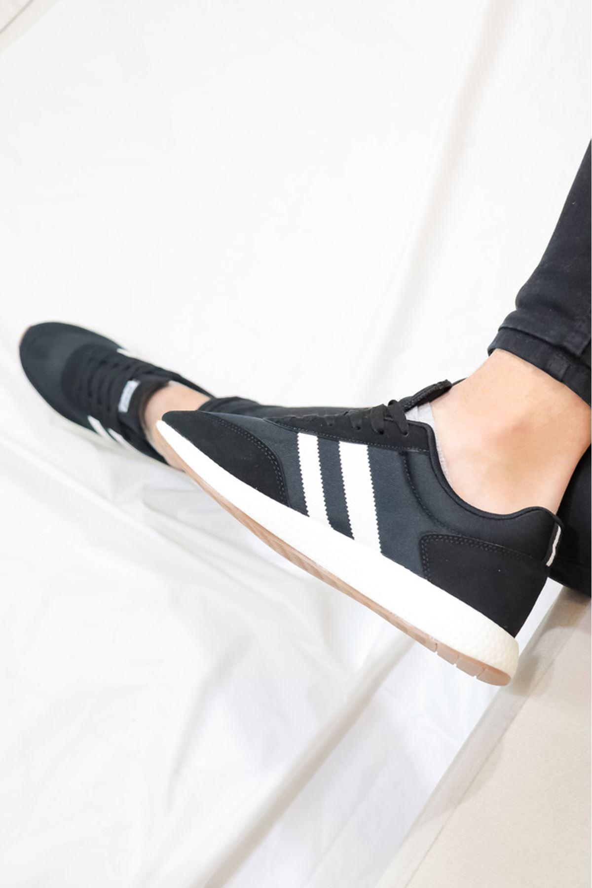 JUMP - 26396 Siyaz Beyaz Detaylı Erkek Spor Ayakkabısı