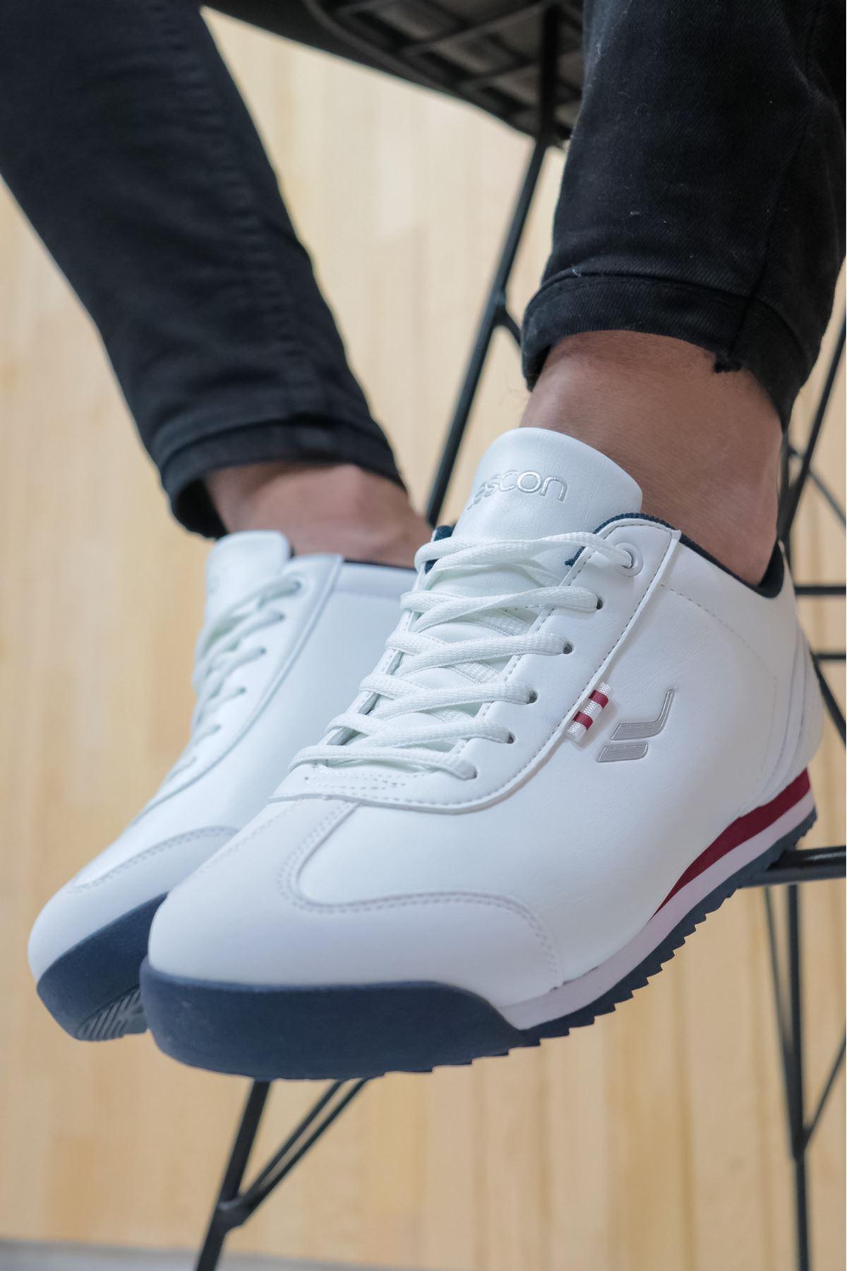 LESCON - WİNNER-4 Beyaz Sneakers Erkek Spor Ayakkabı