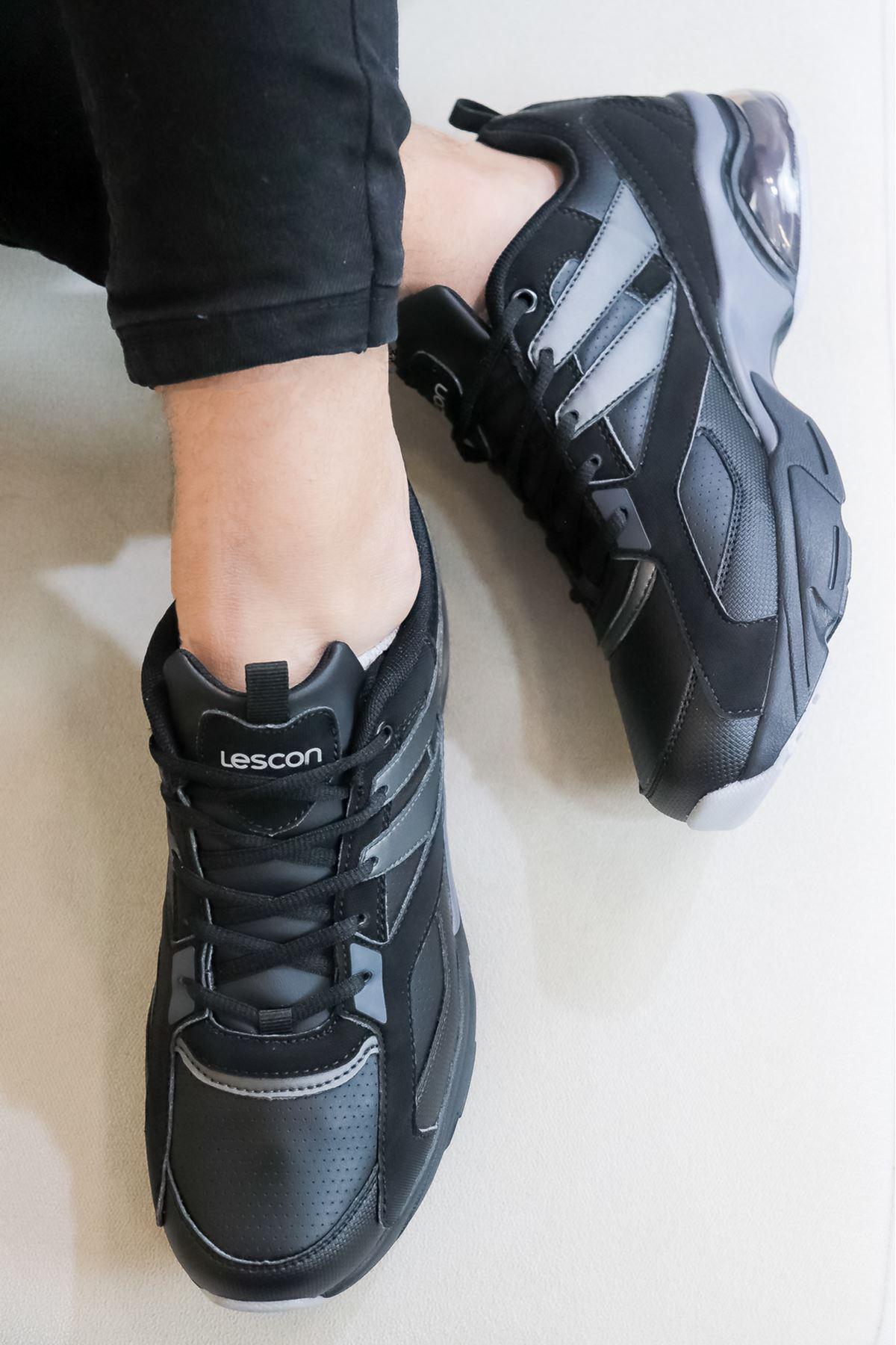 LESCON - Airtube Debut 2 Siyah Erkek Spor Ayakkabısı