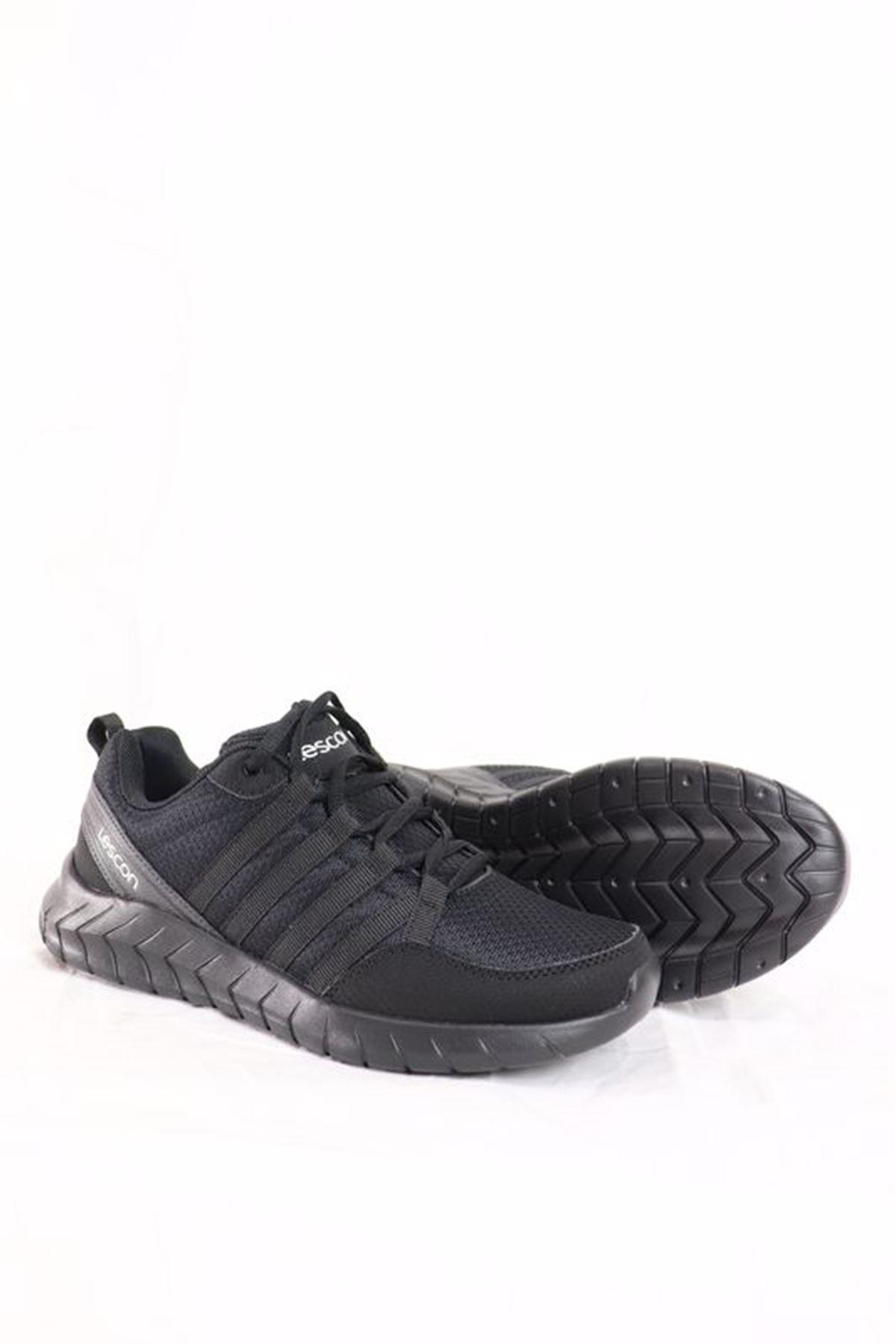 Lescon - Flex Legend-2 Siyah Spor Kadın Ayakkabısı