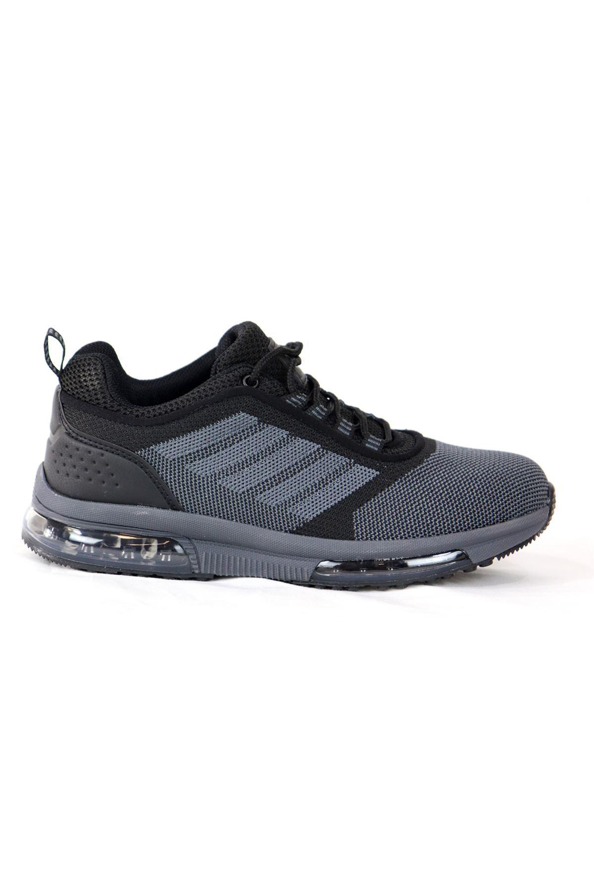MP - 201 - 1172ZN - Siyah Gri Kadın Spor Ayakkabısı