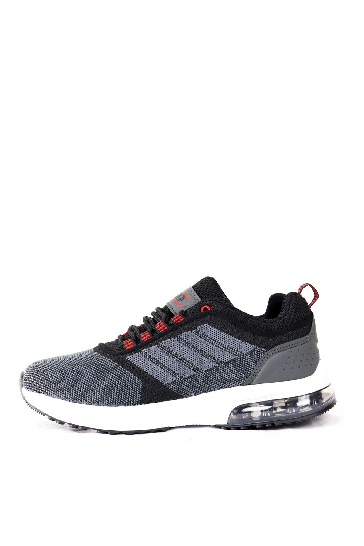 MP - 201 - 1172ZN - Gri/Siyah Kadın Spor Ayakkabısı