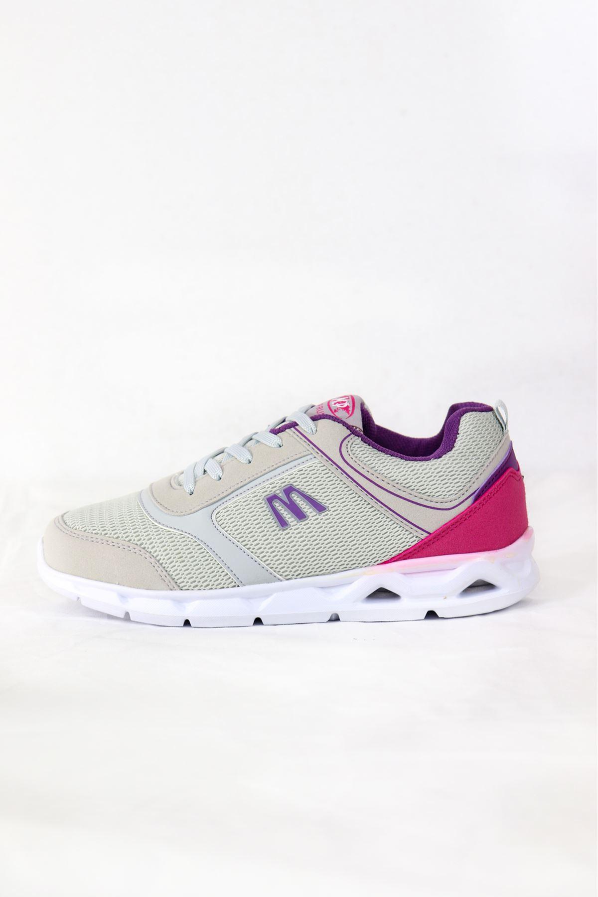 MP - 201 - 7404ZN - Gri/mor Kadın Spor Ayakkabısı