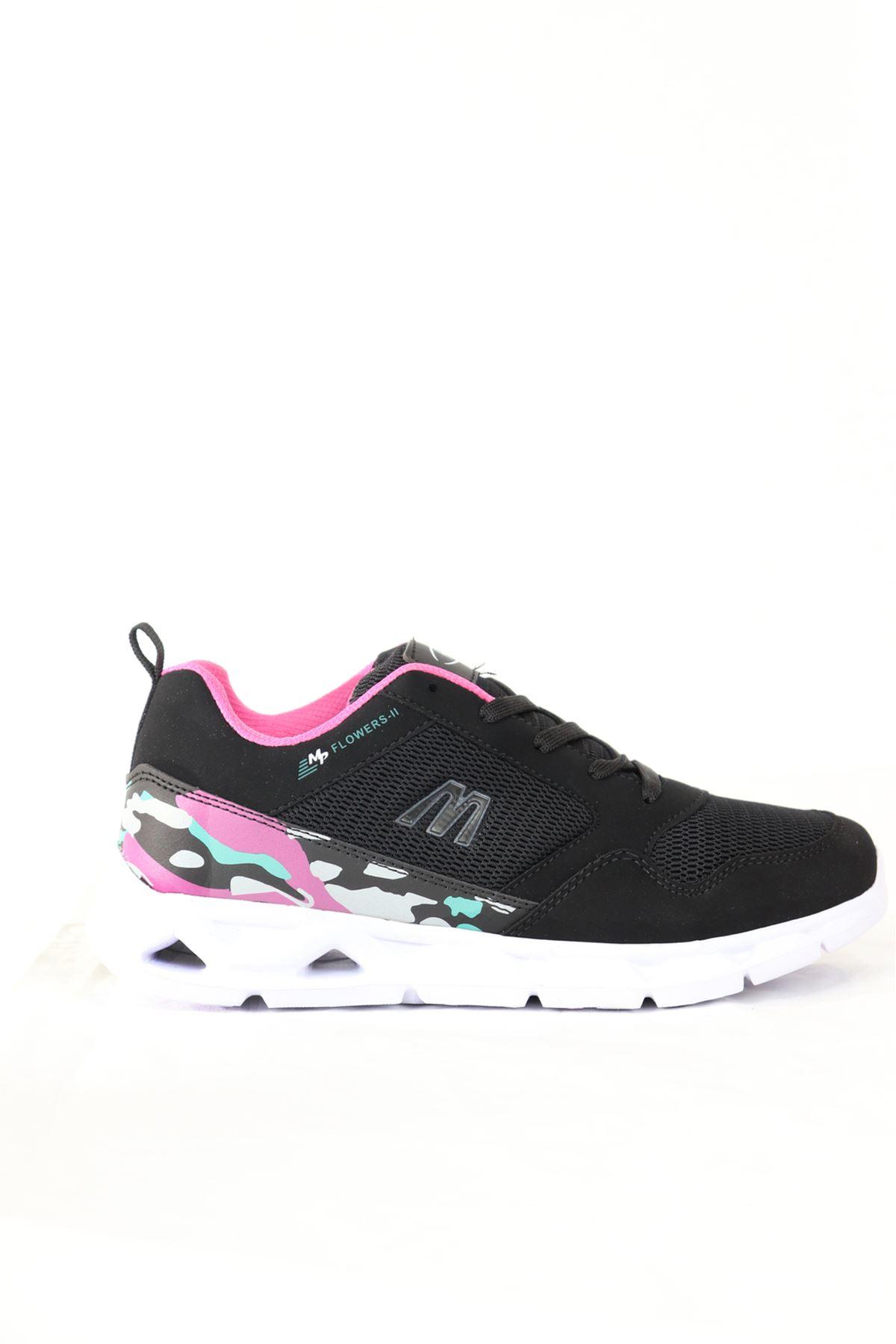MP - 201 -7405ZN Siyah Kamuflaj Detaylı Kadın Spor Ayakkabısı