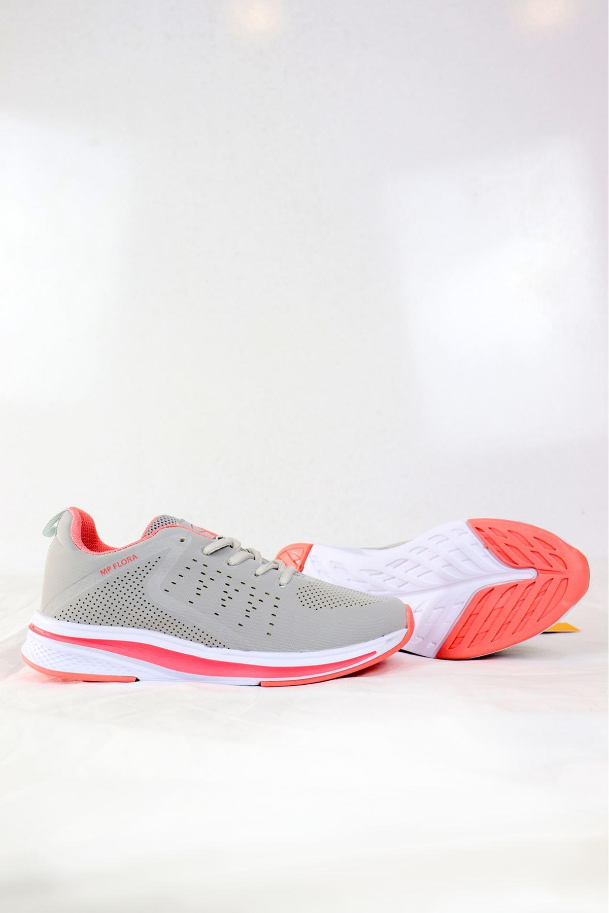 MP - 202 -1414ZN Gri/Pembe kadın Spor Ayakkabısı