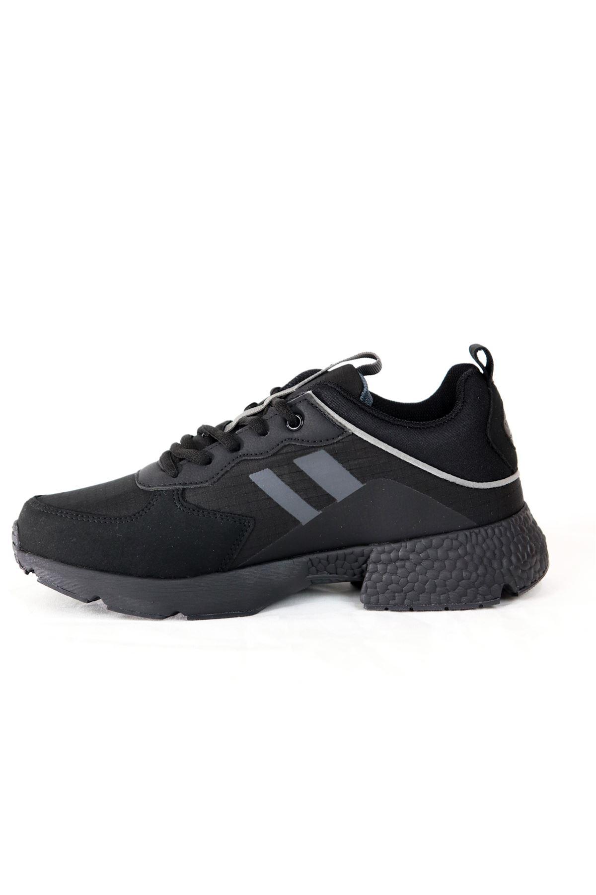 Jump - 25739 - Siyah Yüksek Taban Kadın Spor Ayakkabısı