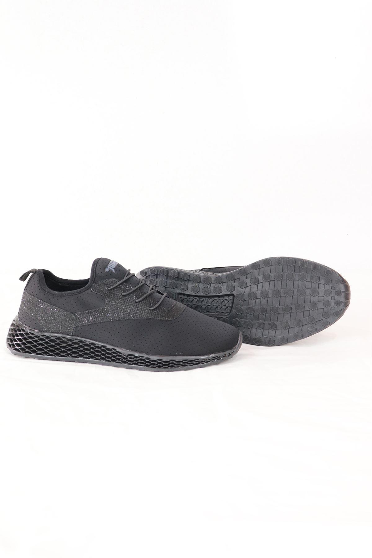 Jump - 24897 - Siyah Sim Deyatlı Kadın Spor Ayakkabısı