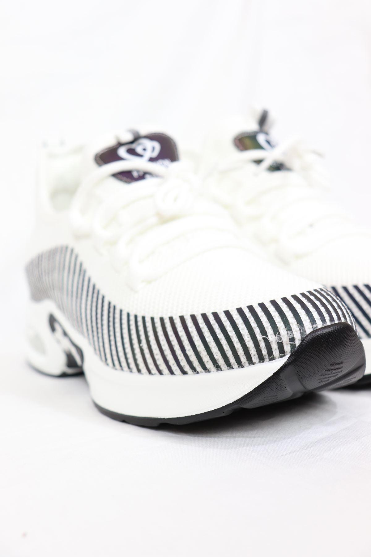 Guja - 21Y301-1 Beyaz Air Taban Fileli Kadın Sneakers