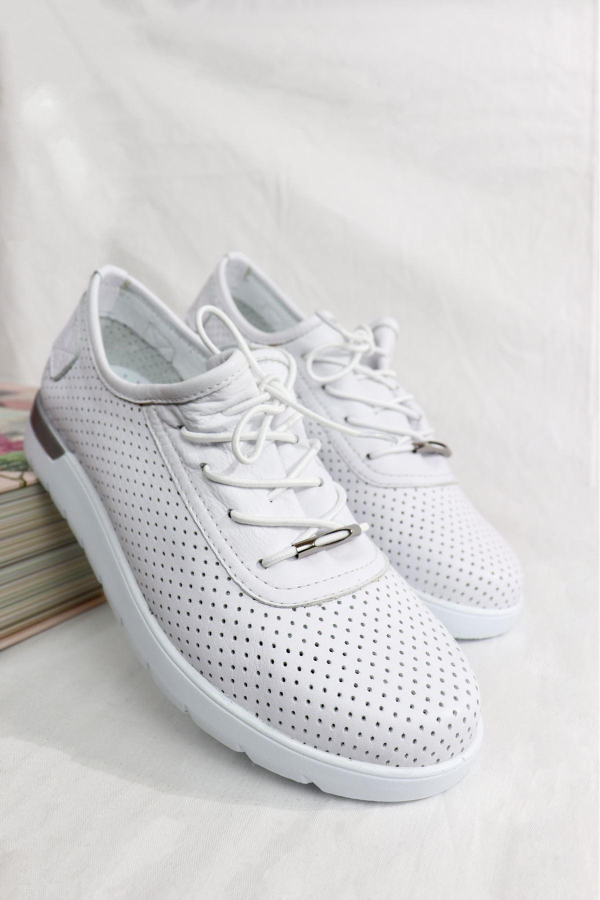 Trendayakkabı - 216 SPR CMF - Beyaz Kadın Ayakkabısı