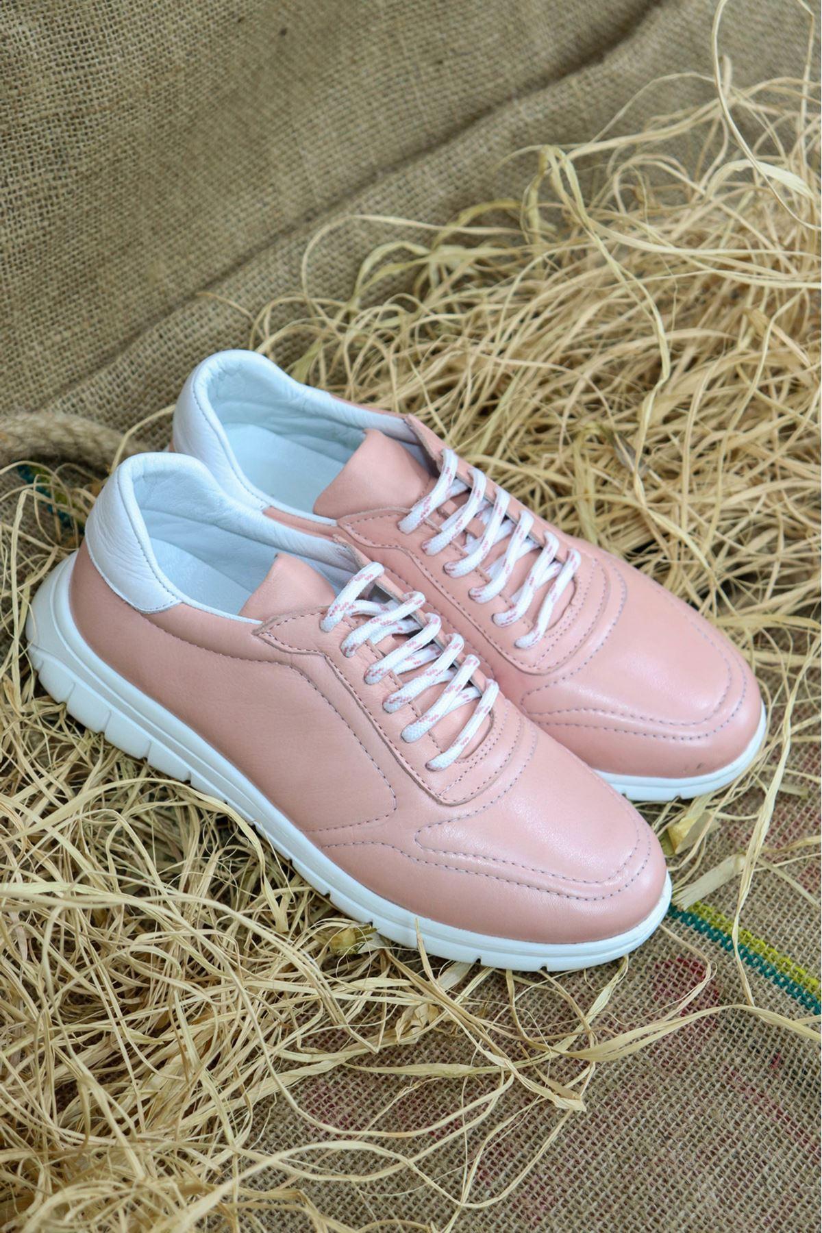 Libero - LZ3389 Pudra Eva Hazır Antik Kadın Spor Ayakkabısı