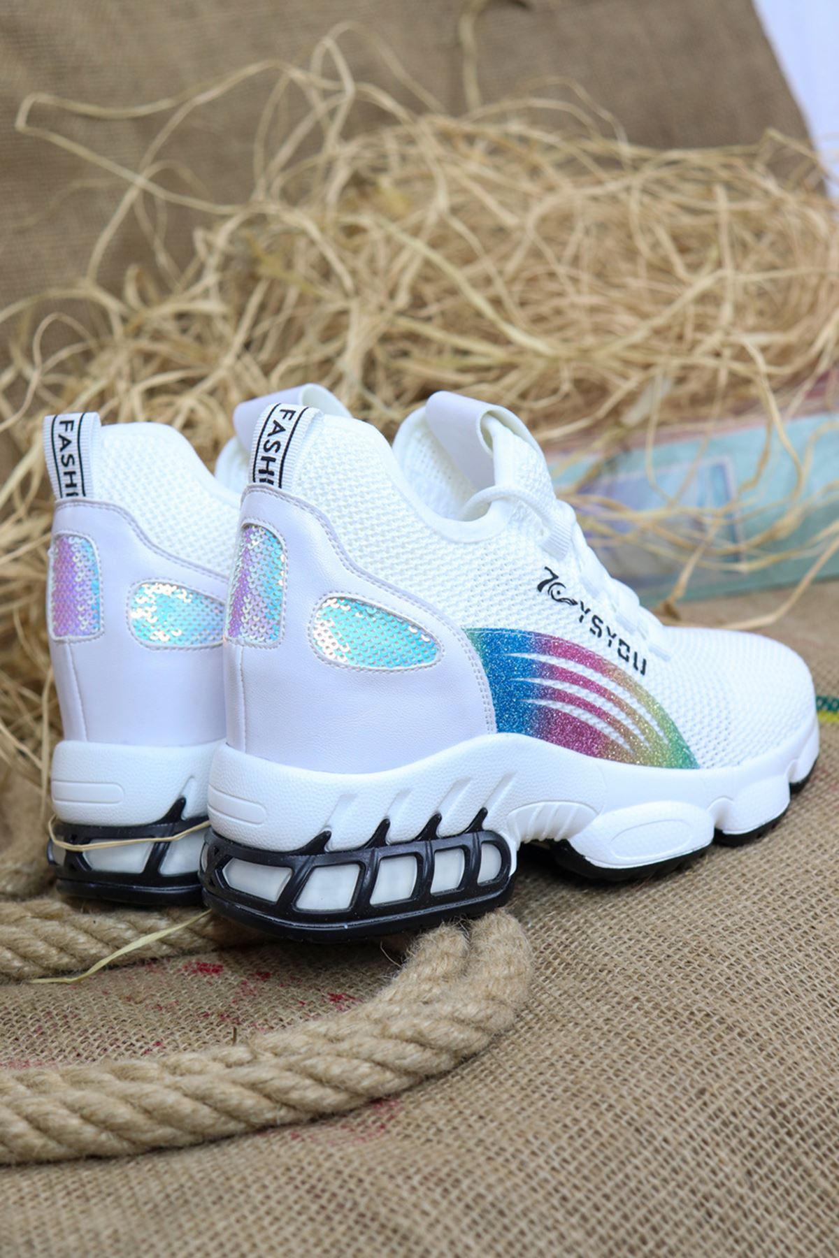 Guja - 21Y310-2 Beyaz Kadın Spor Ayakkabısı