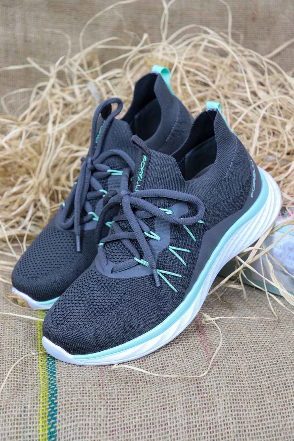 Forelli - NİL-68137 Füme Ortopedik Kadın Spor Ayakkabısı