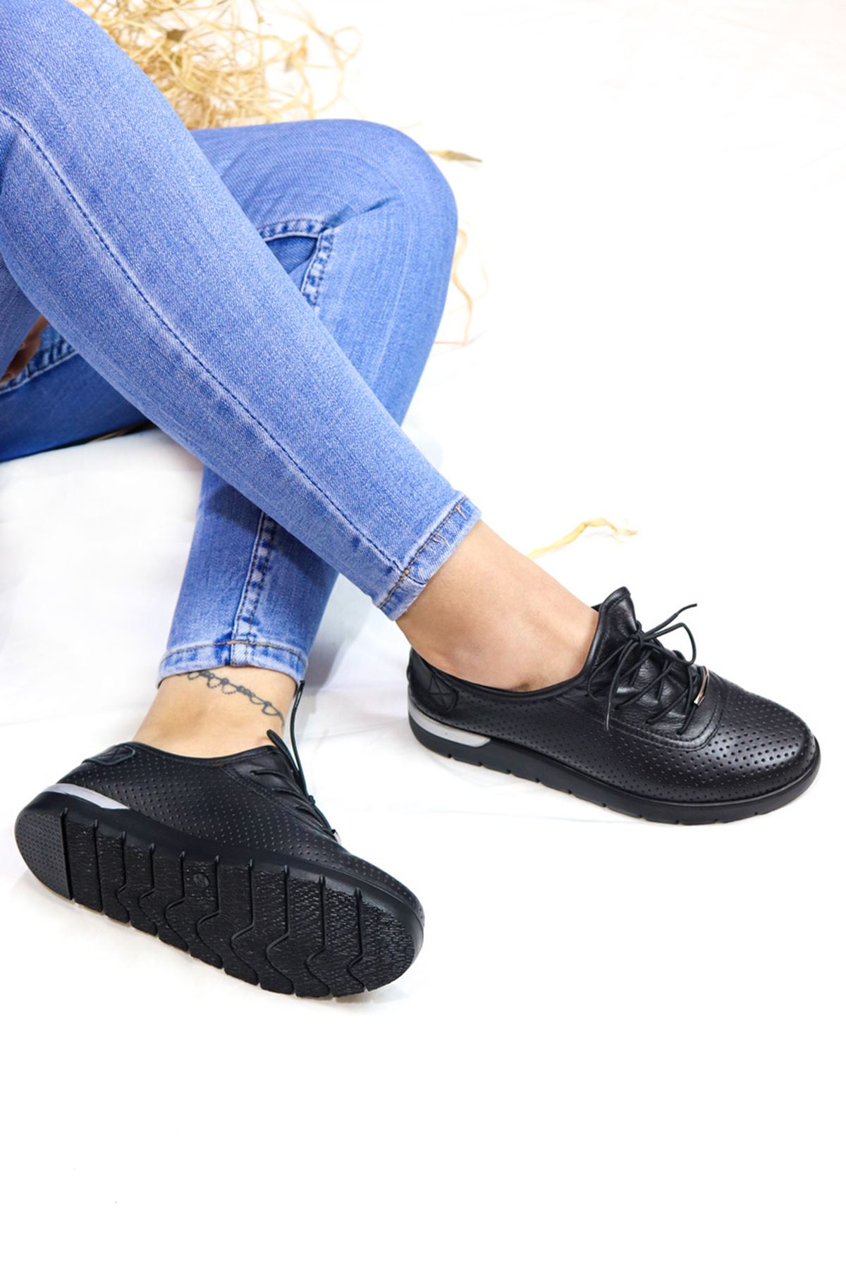 Trendayakkabı - 216 CMF - Siyah  Kadın Ayakkabısı