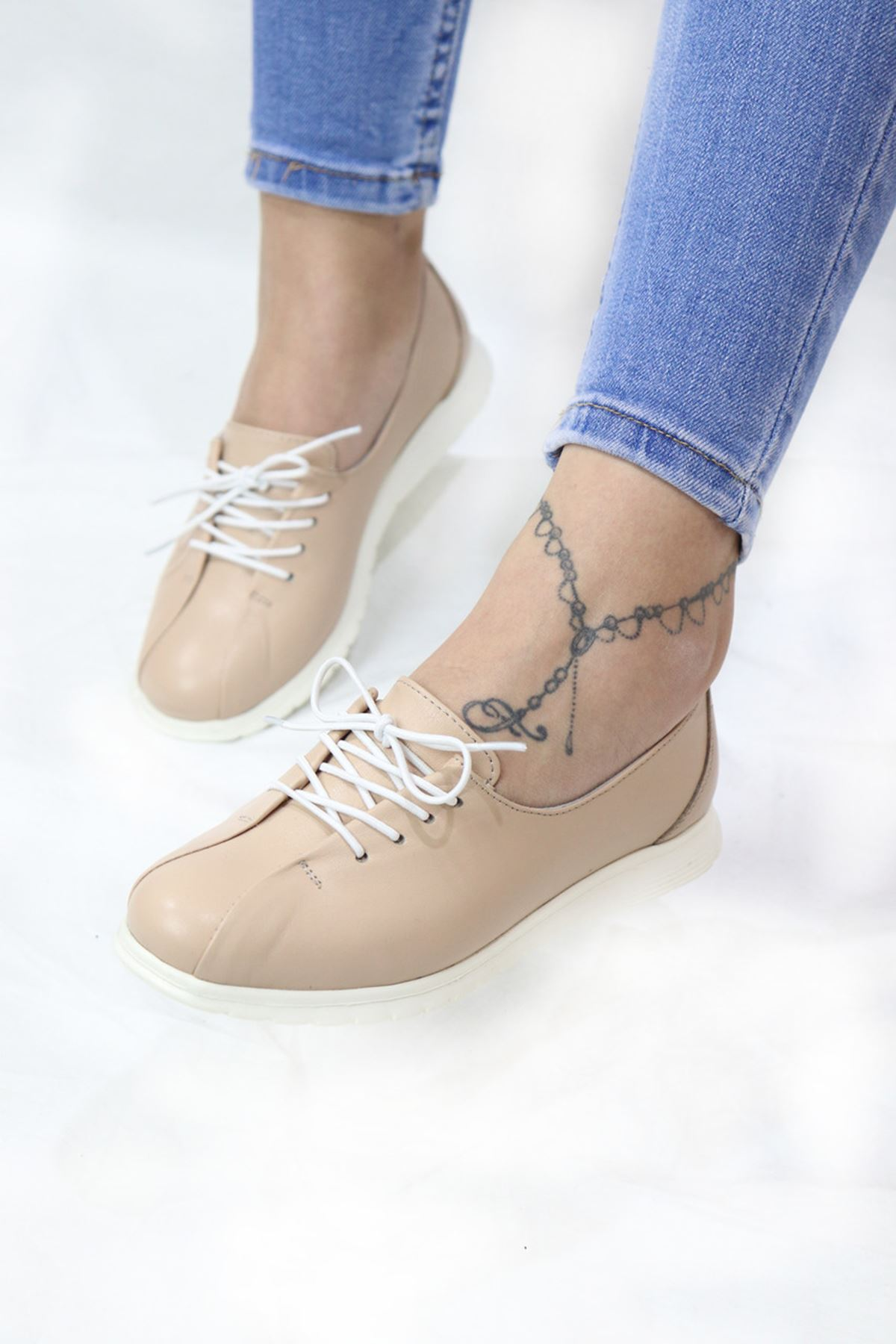Trendayakkabı - 401 CMF - Ten Kadın Ayakkabısı