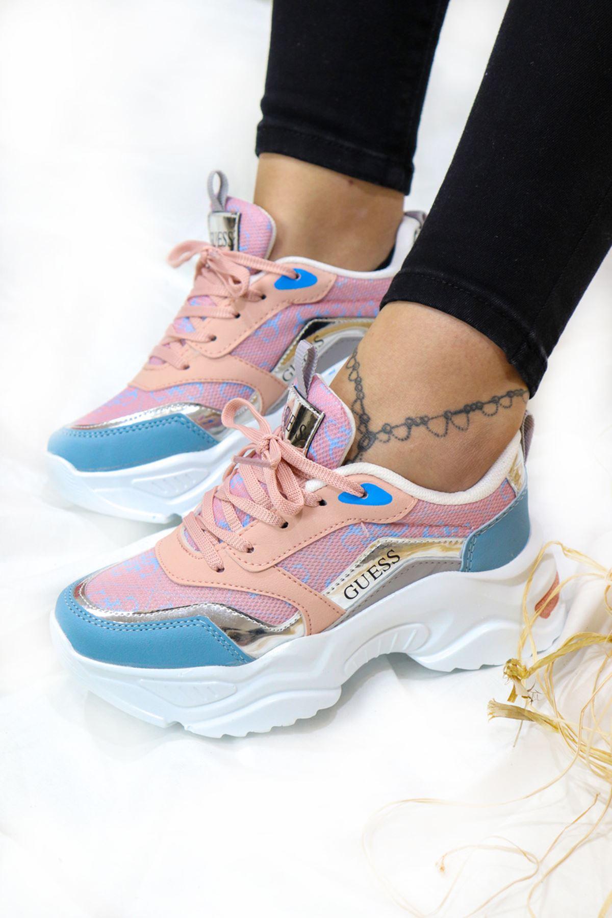 Trendayakkabi - Mavi Kadın Spor Ayakkabı
