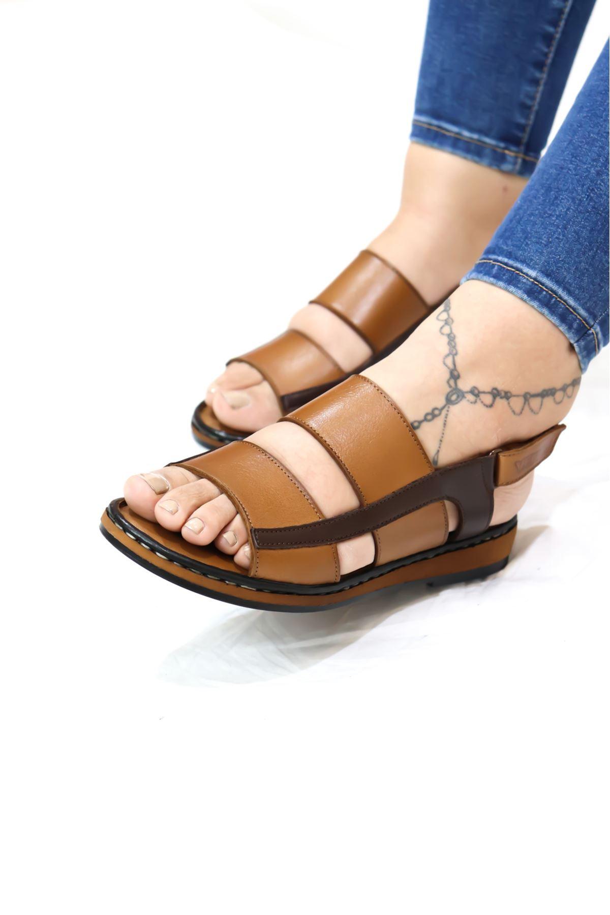 Venüs - 2198121 Taba Kadın Sandalet
