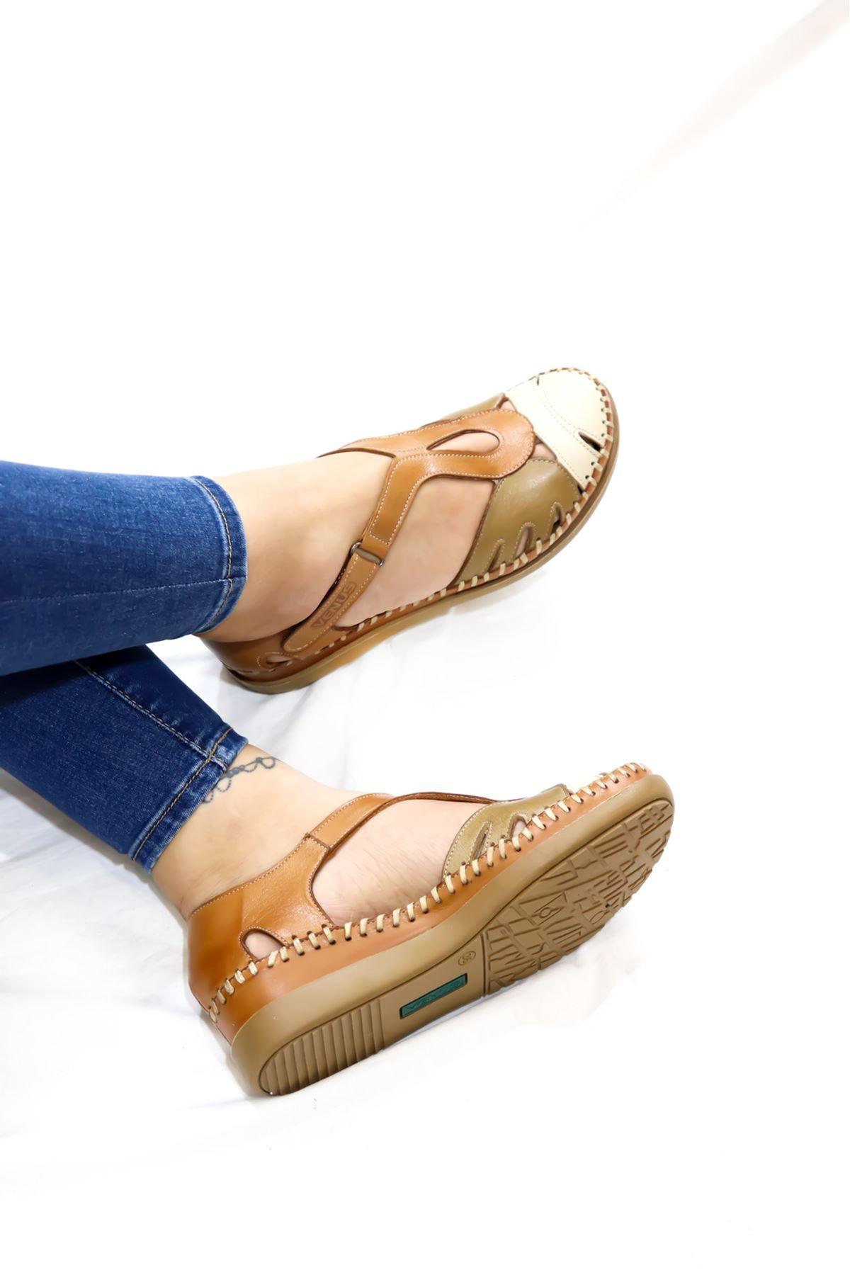 Venüs - 18793502 Taba Kadın Sandalet