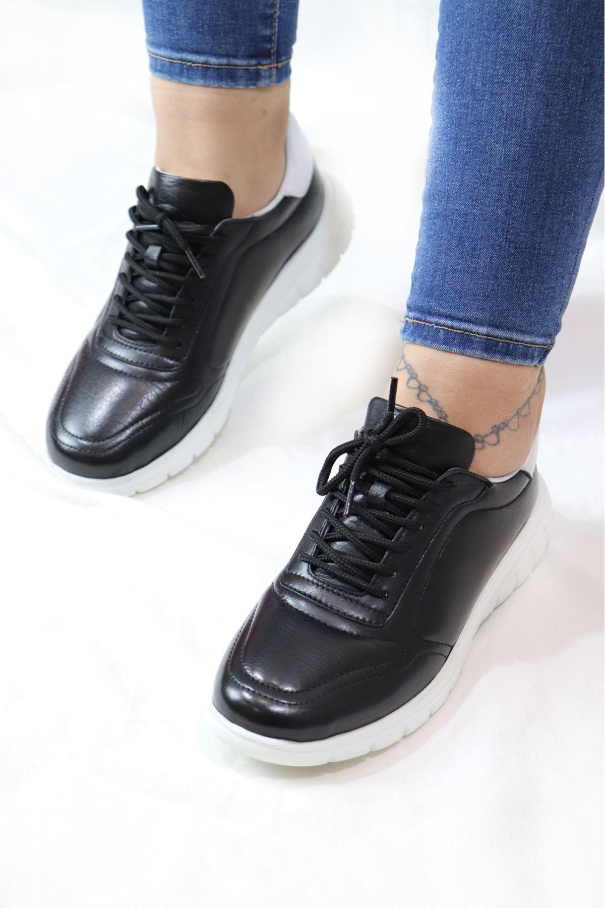Libero - LZ3389 Siyah Hazır Antik Kadın Spor Ayakkabısı