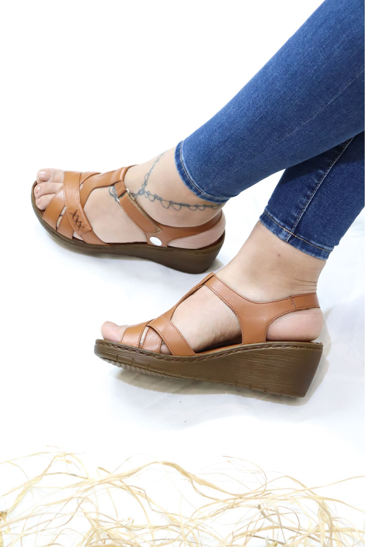 Mammamia - D21YS - 1300-B Taba Sandalet