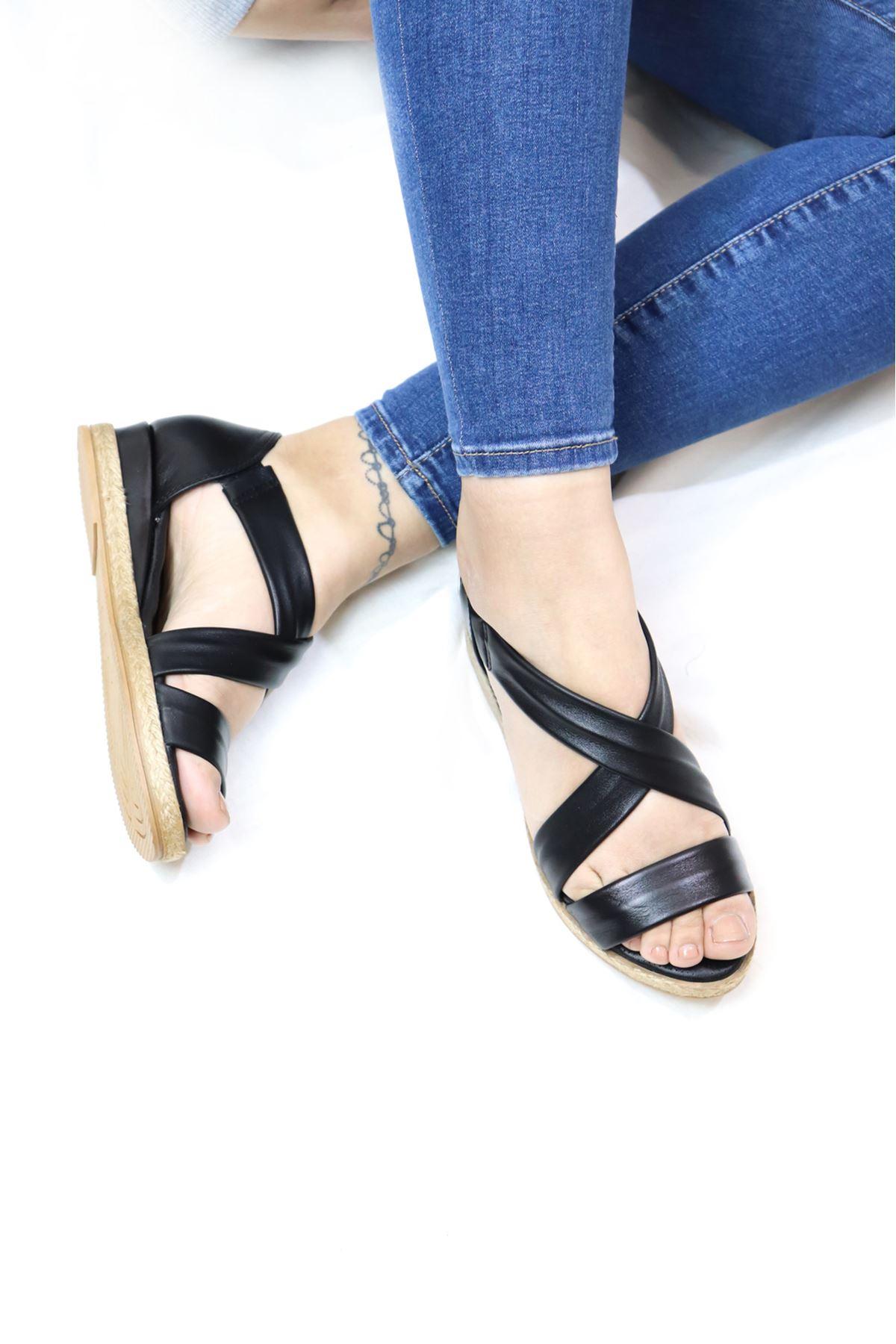 Mammamia - D21YS - 1115 Siyah Sandalet