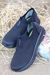 Forelli - LENA-68840 Siyah Ortopedik Kadın Spor Ayakkabısı