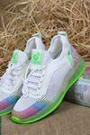 Guja - 21Y313-1 Beyaz Yeşil Detaylı Kadın Spor Ayakkabısı